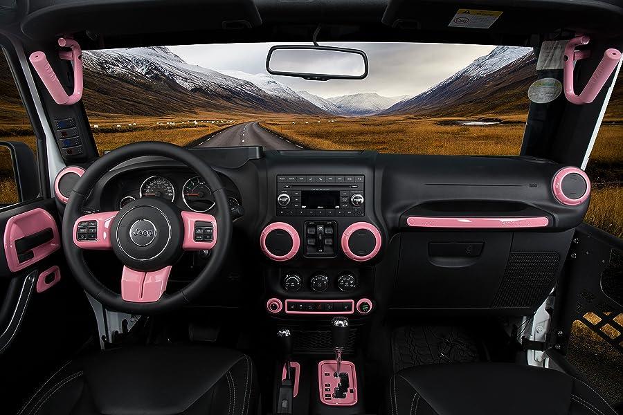 Opar Pink Door Hinge Cover For 2007 2018 Jeep Jk Wrangler Unlimited 4 Door 8pcs
