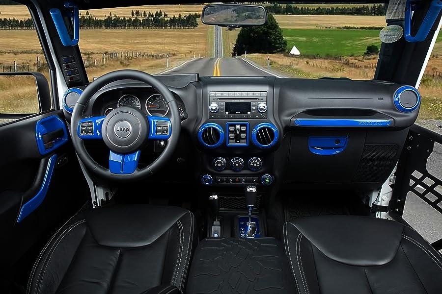 Opar Blue Air Conditioning Switch Cover Trim For 2011 2018 Jeep Jk Wrangler