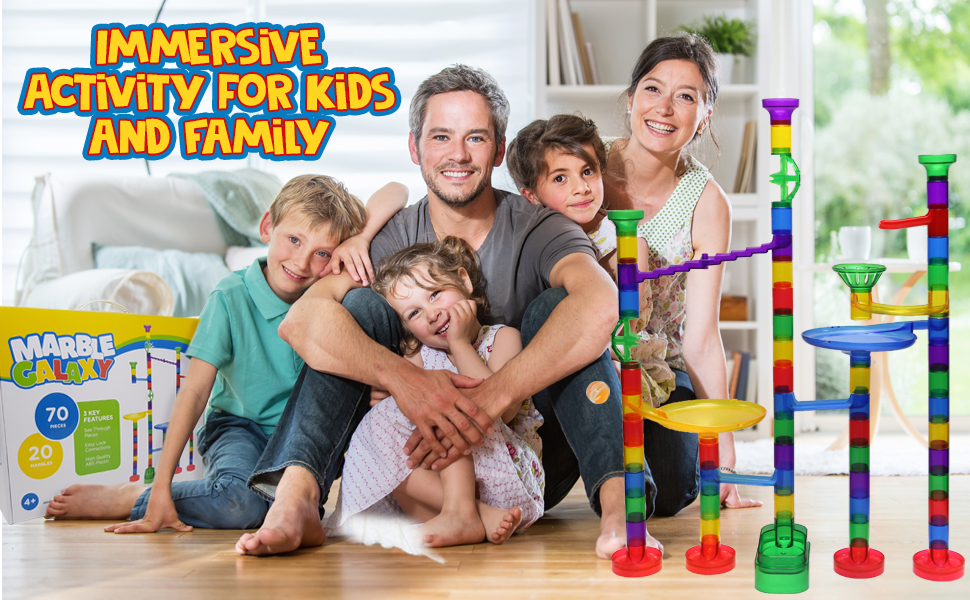 Whizbuilders Marble Run Immersive activity for kids and family