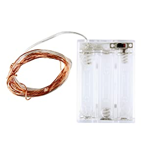 cooper wire light string battery powered