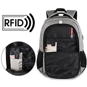 rfid pocket grey