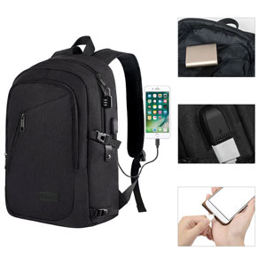 c5befba0a54 Amazon.com: Anti Theft Business Laptop Backpack with USB Charging ...