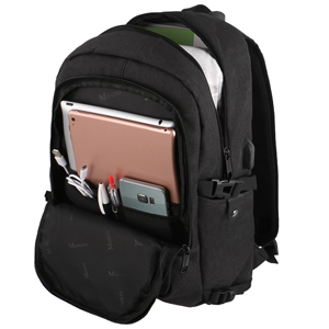 Anti Theft Business Laptop Backpack with USB Charging Port Fits 15.6 inch Laptop, Slim Travel College Bookbag for MacBook Computer, School Computer ...