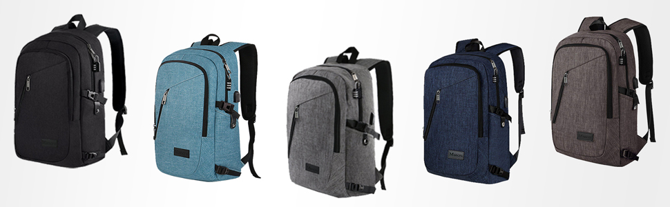 Mancro Backpack Basic Classic Grey Black Blue Coffee