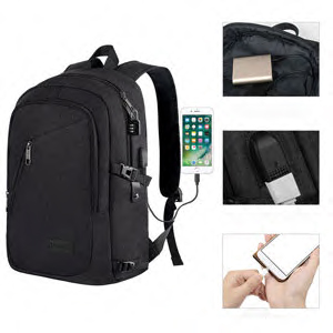 Extra Large Backpack, Durable Travel Computer Backpack with USB Charging Port