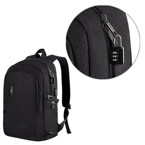 Anti Theft Business Anti Theft Slim Durable Laptops Backpack with USB Charging Port