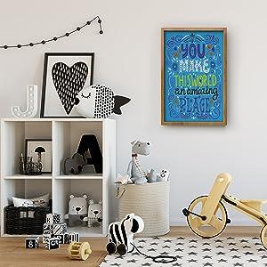 childrens decorative hangings for inspiring school subject