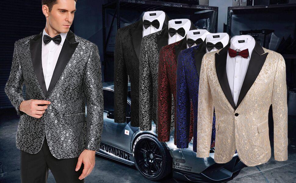 men's floral jacket blazer