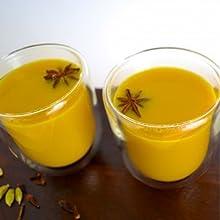 turmeric latte golden milk drink healthy eating clean paleo vegan ground turmeric root powder