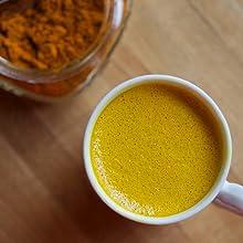 turmeric tea anti inflammatory healthy spiced ginger golden milk latte mix dairy free vegan gluten