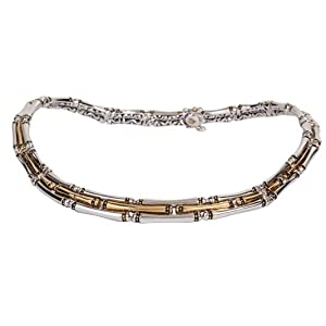 Canias Three Row Hinged Necklace