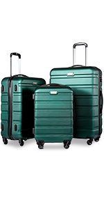 Amazon.com | Coolife Luggage 3 Piece Set Suitcase Spinner ...