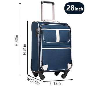 Dark Grey 35 23 50 Color Color : Rose Gold, Size : 141022 inch Aishanghuayi Suitcase for Hard Shell Caster Portable TSA Lock Mute Wheel Suitcase Size cm