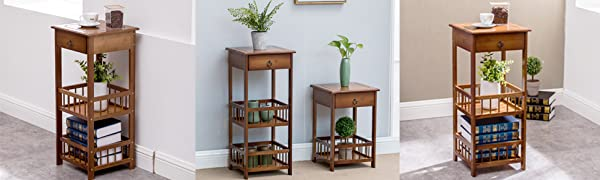3 tiers end table