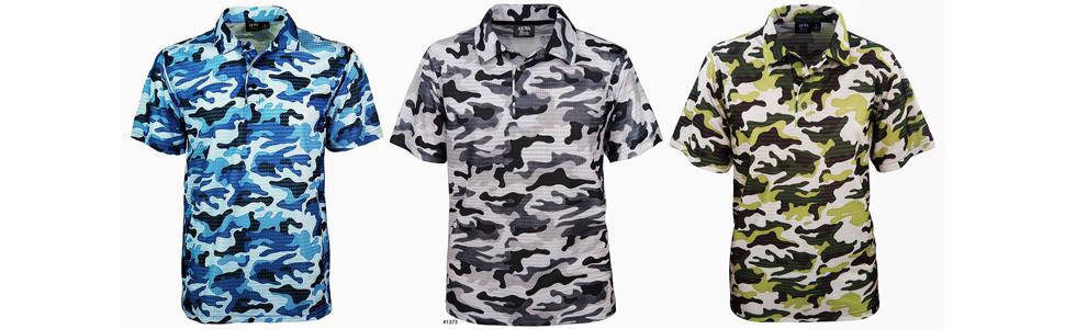 made in usa camo polo men polo shirt hunting golfing