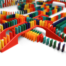 Bulk Dominoes Toy STEAM Education Game Stacking Toppling Building Plastic Durable
