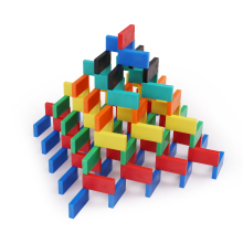Bulk Dominoes Toy STEAM Education Game Stacking Toppling Building Plastic Durable 3D Pyramid