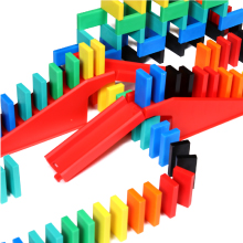 Bulk Dominoes Toy STEAM Education Game Stacking Toppling Building Plastic Durable Slides