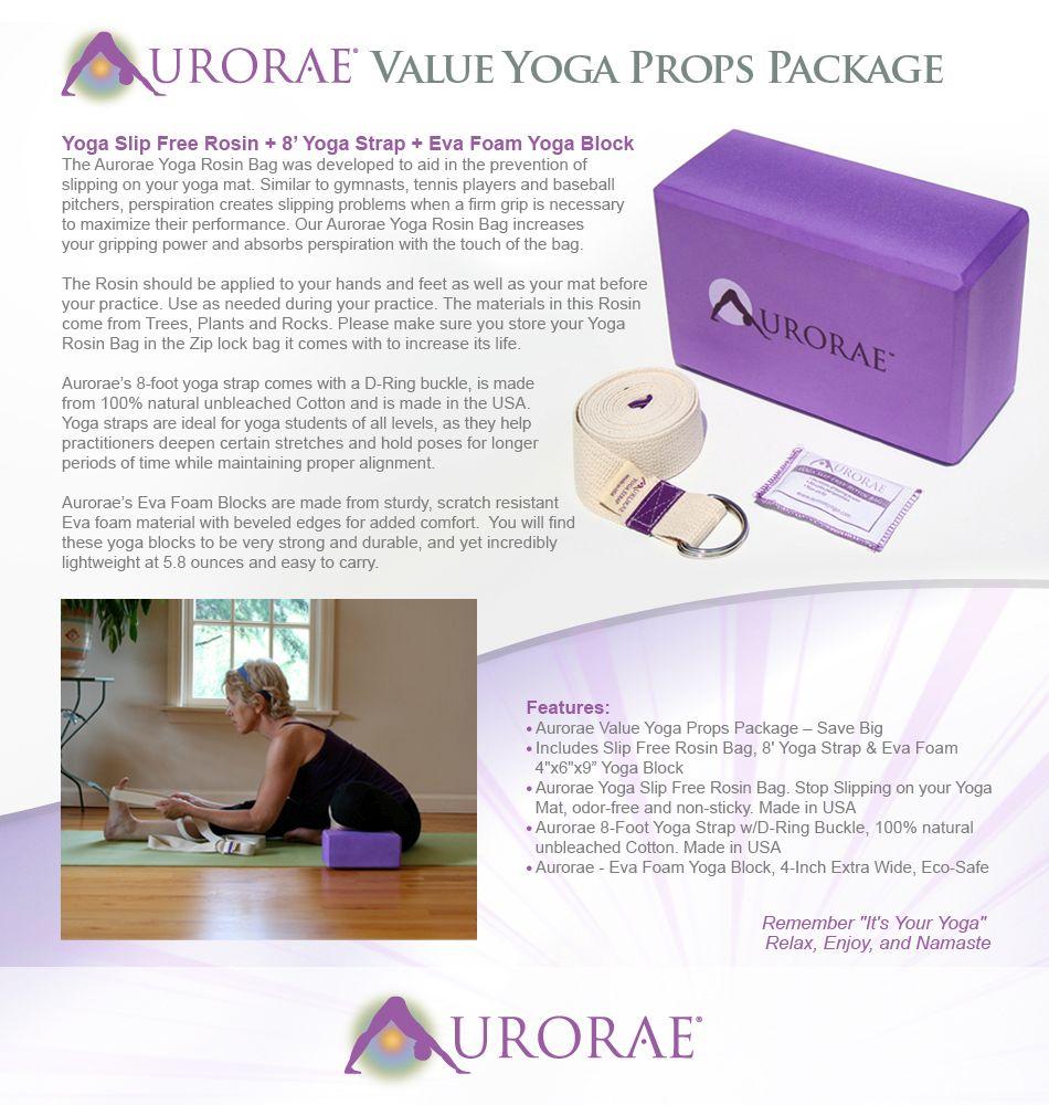 f494434ba0 Amazon.com   Aurorae Yoga 3 Piece Bundle includes Yoga Block