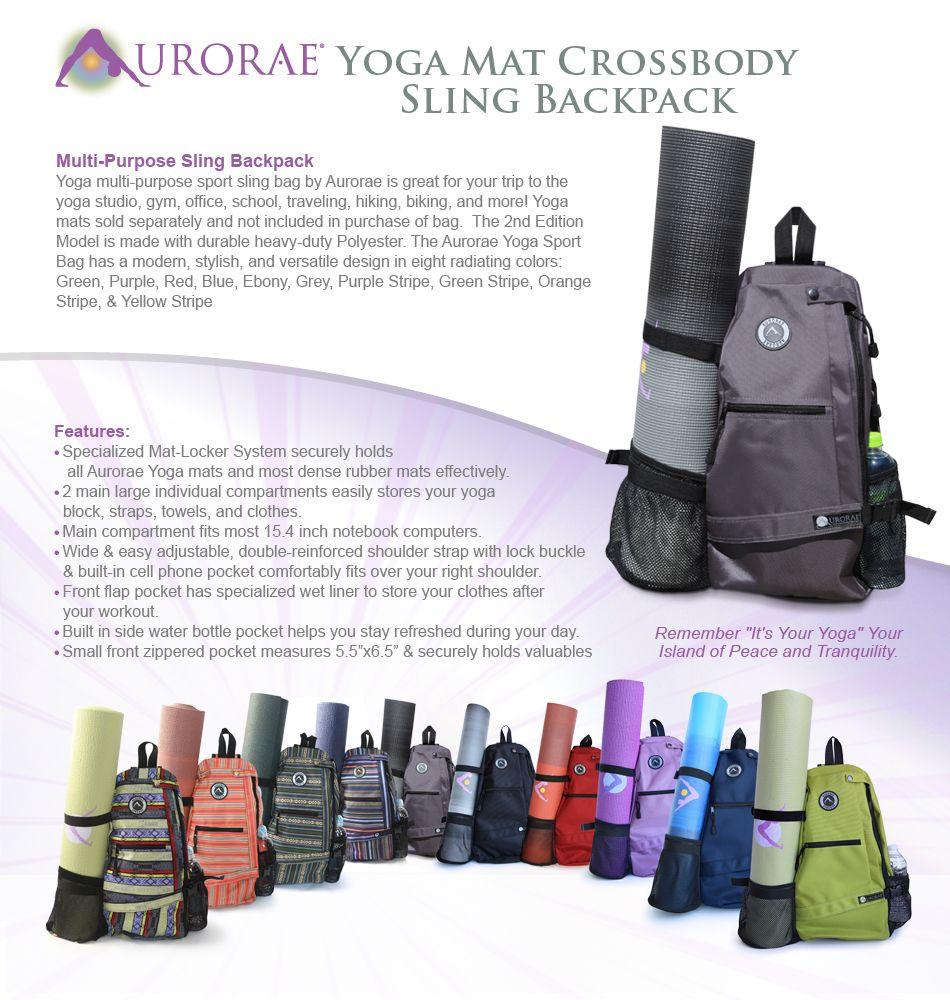 865e7a58626e Amazon.com   Aurorae Yoga Mat Bag. Multi Purpose Cross-body Sling ...