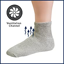 Our non-binding socks feature a loose knit design.