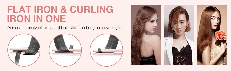 flat iron hair curler