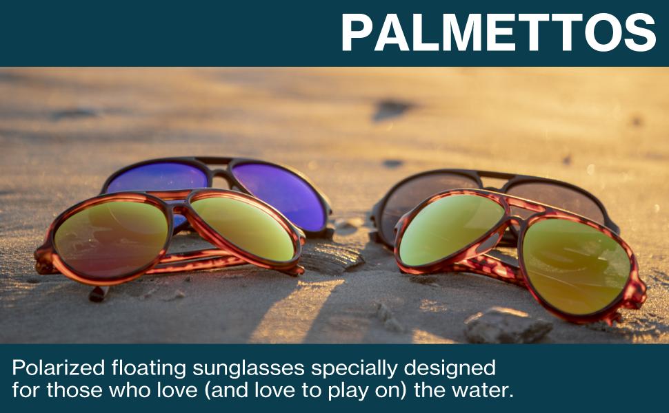 0213cbe949778 Amazon.com  Rheos Palmettos Aviator Floating Polarized Sunglasses ...