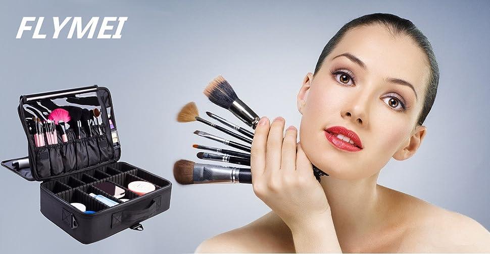Amazon.com : FLYMEI Portable Makeup Train Case