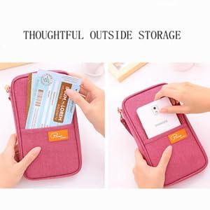 Travel Wallet Passport Holder, RFID Document Organizer by FLYMEI