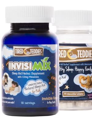Melatonin for kids, Invisimix, Tired teddies