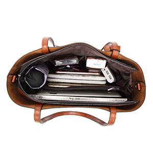 Women's Soft Leather Handbag Big Capacity Tote Shoulder Crossbody Bag Upgraded