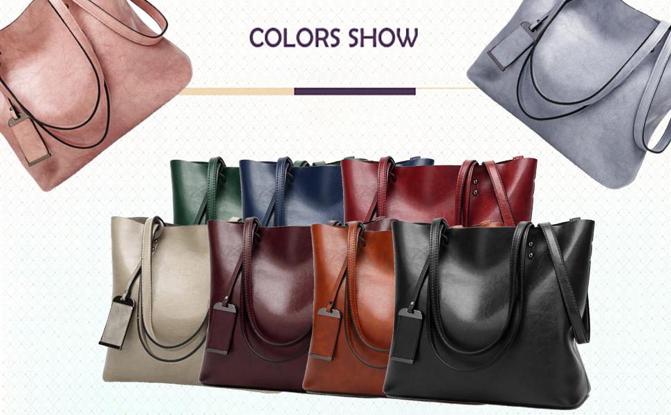 Soft Leather Tote Shoulder Bag from Dreubea, Big Capacity Tassel Handbag