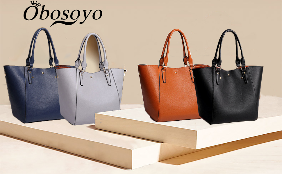 Women PU Leather Big Shoulder Bag Purse Handbag Tote Bags
