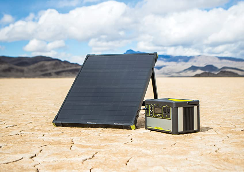 Amazon Com Goal Zero Yeti 400 Lithium Solar Generator Kit With Boulder 50 Solar Panel