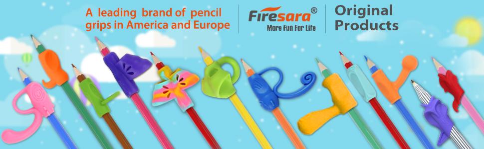Amazon.com: Firesara - Empuñaduras para lápices, ergonómicas ...