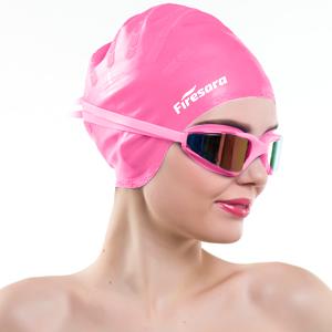 7b0dd05a4ca Amazon.com   Firesara Swim Cap Swimming Goggles