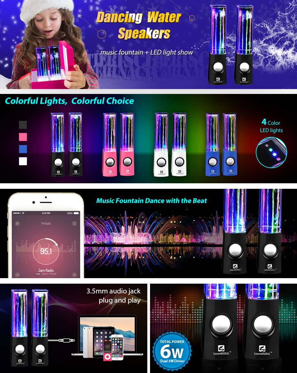 amazon com soundsoul water dancing speakers light show water