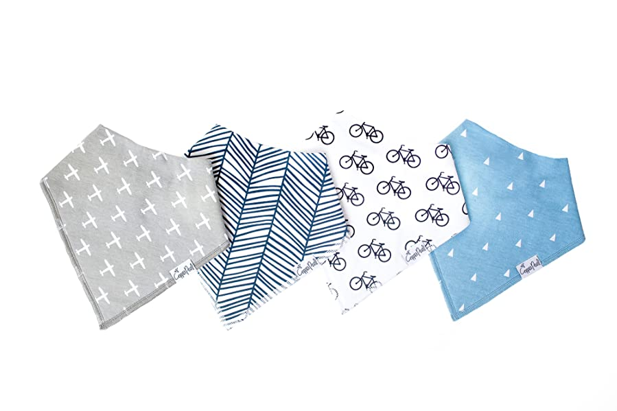 Amazon.com: Baby Bandana Drool Bibs for Drooling and Teething 4 Pack ...