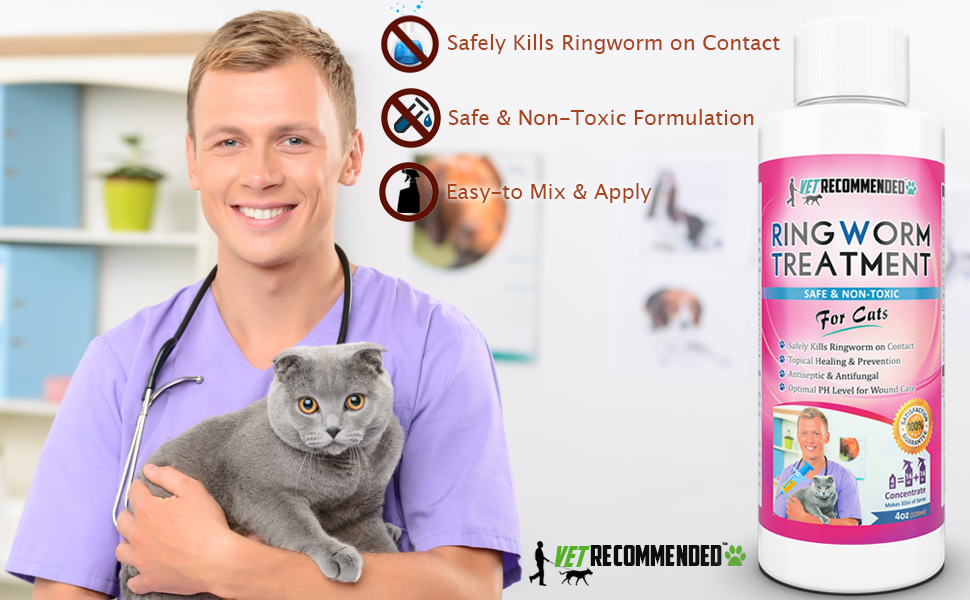 how to get rid of ringworm fast on cats