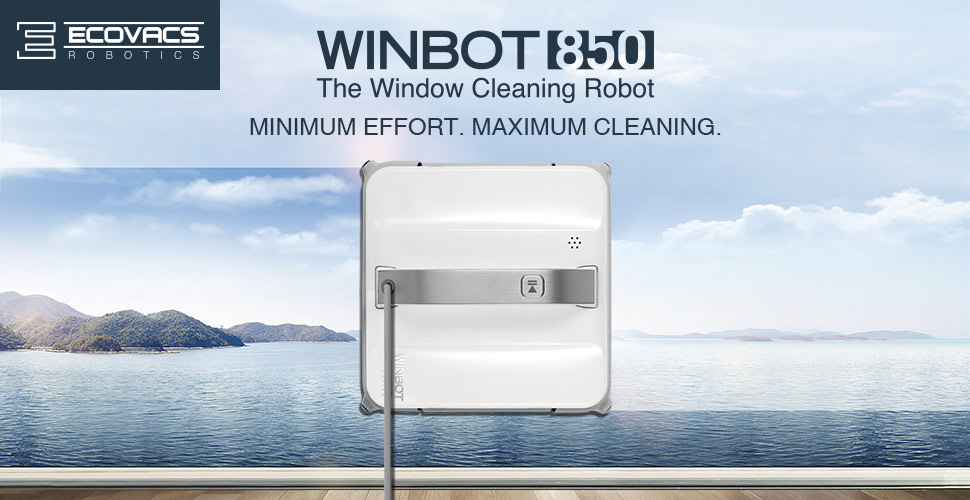 Ecovacs Winbot 850 Automatic Window Cleaning Robot, Glass Cleaner
