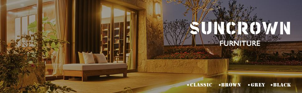 Amazon.com: Suncrown sillas de mimbre de mobiliario para ...