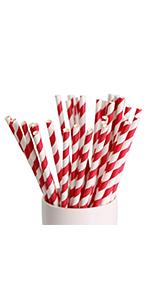 red striped paper straws stripe straw