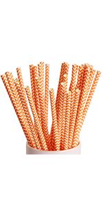 paper straws orange green purple straw chevron paper straws