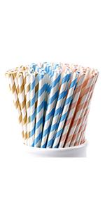 pink paper straws striped straw pink blue brown straw