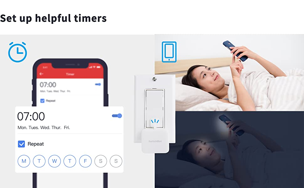 SwitchBot Smart Switch Button Pusher - No Wiring, Wireless App or Timer  Control, Add SwitchBot Hub Works with Alexa, Google Home, Siri, IFTTT