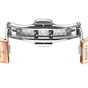 19f94a18d62e MAMONA Women's Watch Bracelet Gift Set Crystal Accented Ceramic ...