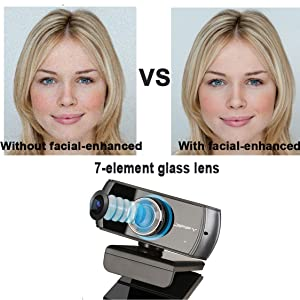 Facial-enhancement technology optimizes the image automatically, which makes you look more beautiful