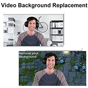 Background replacement is compatible with most video calling programs,