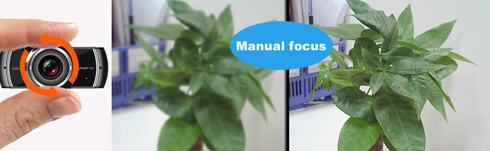 JIFFY manual focus web camera