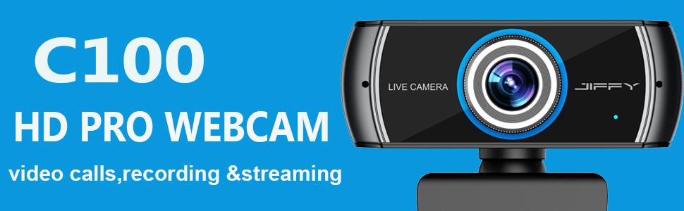 JIFFY HD PRO WEBCAM 1080P VIDEO CALLS RECORDING STERAMING